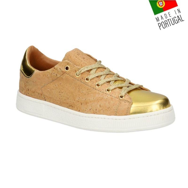 OAK Forest - Chaussures en liège Vegan- Baskets en liège version dorée T37