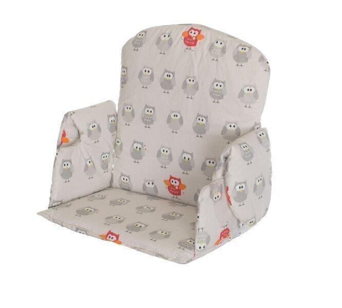Geuther - Coussin de chaise haute Family, Nico et Mucki petits hiboux