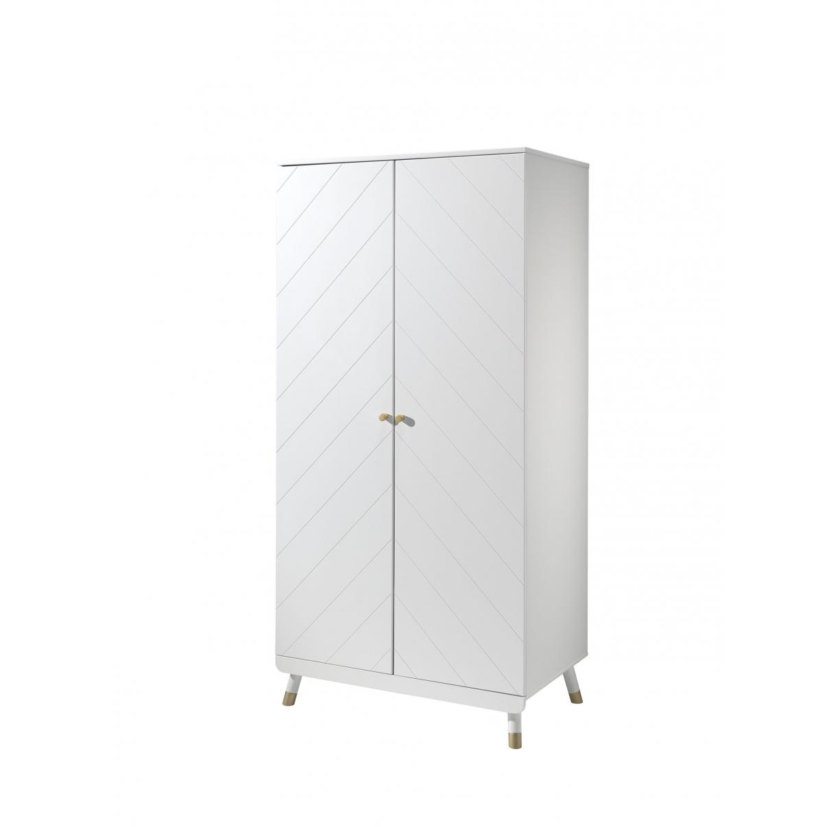 Vipack - Armoire 2 portes Billy Blanche 100x200x59cm