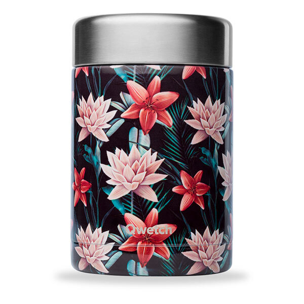 Qwetch - Boîte repas isotherme inox Tropical 65cl