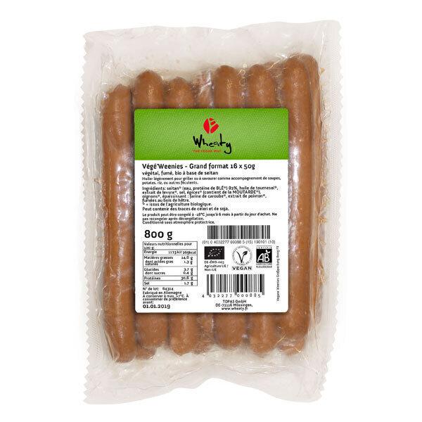 Wheaty - Végé'Weenies - Grand format 16x50g