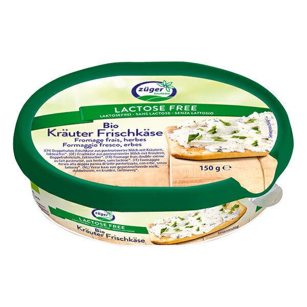 Zuger - Fromage frais aux herbes sans lactose 150g