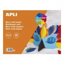 Apli Agipa - Bloc assortiment de papiers 32x24cm