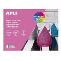 Apli Agipa - Bloc Papier Glitter 32x24cm