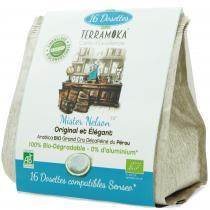 Terramoka - Décaféiné Bio 16 dosettes Senseo® Nelson - 100% Arabica Pérou