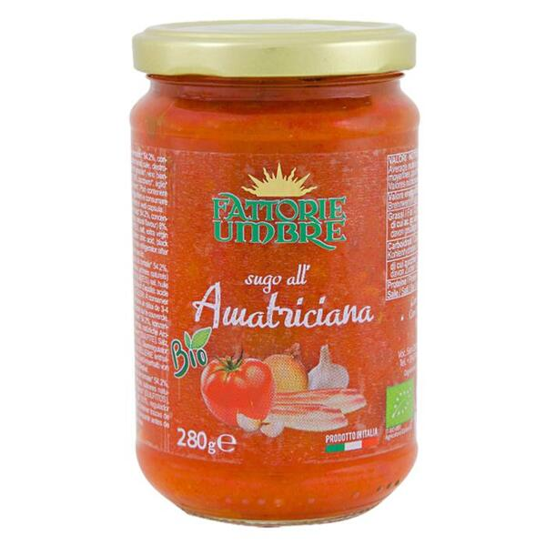 Saveurs de Tosca - Sauce tomate et bacon Amatriciana BIO Fattorie Umbre - 280 gr Na