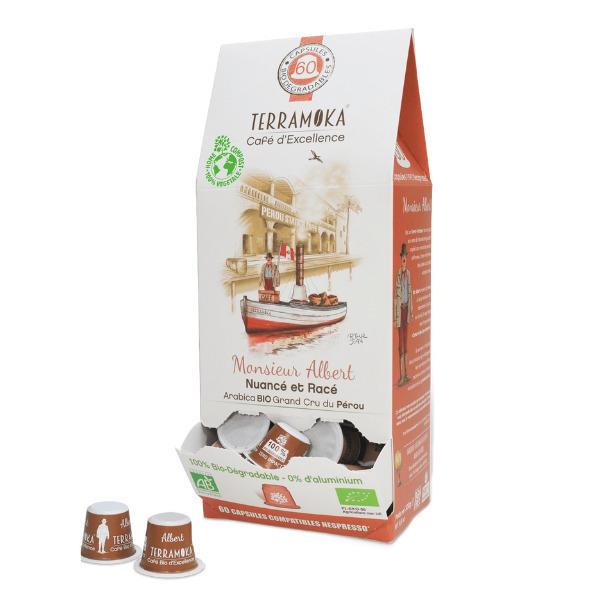 Terramoka - Albert x60 capsules biodégradables type Nespresso®
