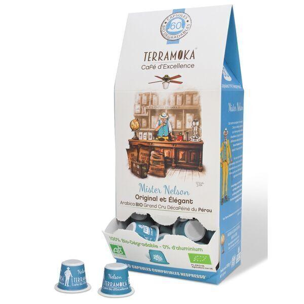 Terramoka - Nelson x60 capsules biodégradables type Nespresso®