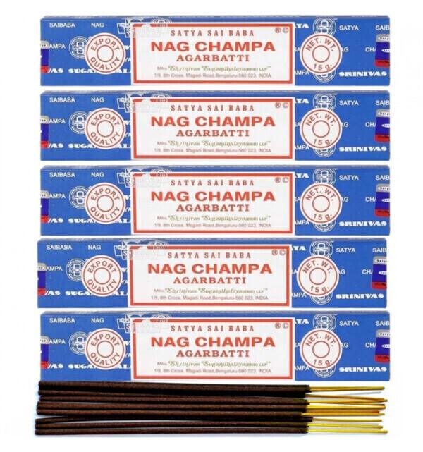 Satya - Encens Nag Champa. Lot de 60 bâtonnets marque Satya Sai Baba