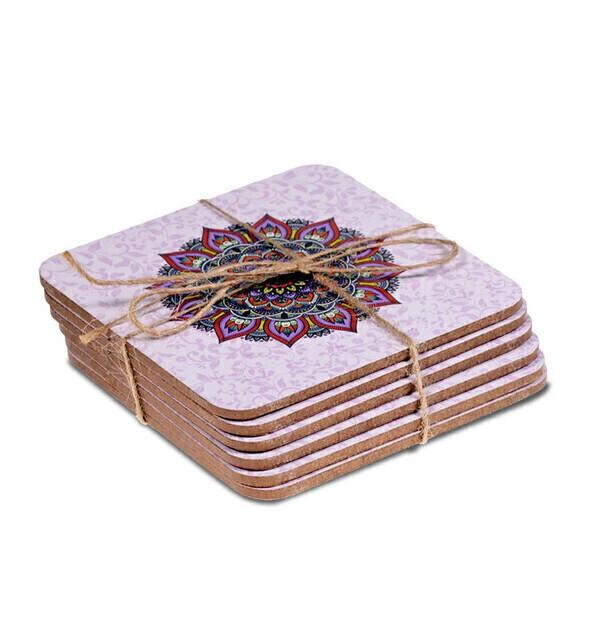 Coco Papaya - Sous-verres motif Mandala violet - Lot de 6