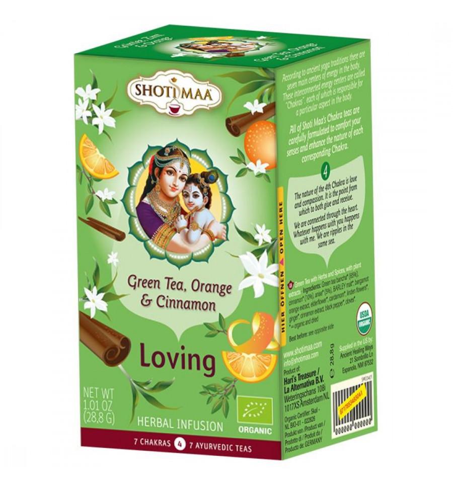 Shoti Maa - Tisane / infusion ayurvédique bio au Thé vert, Orange et Cannell