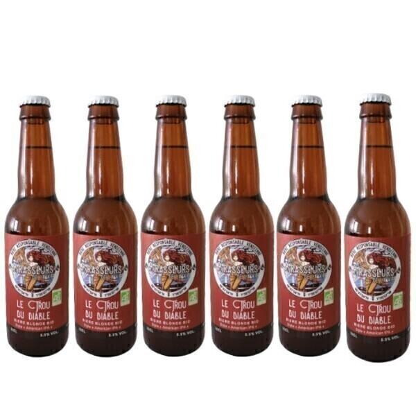 Vinaccus - IPA bio bière blonde le trou du diable - 6 bouteilles de 33 cl