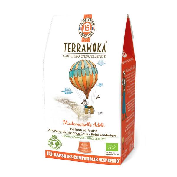 Terramoka - Adèle x15 Capsules Biodégradables type Nespresso®