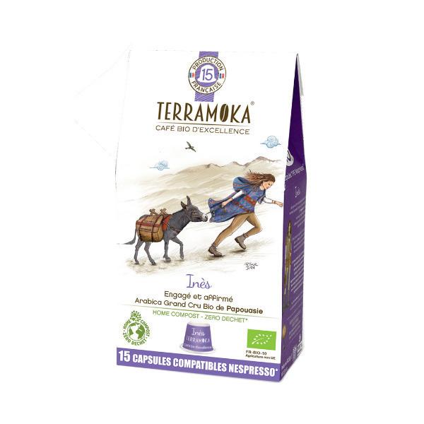 Terramoka - Inès x15 Capsules Biodégradables type Nespresso®