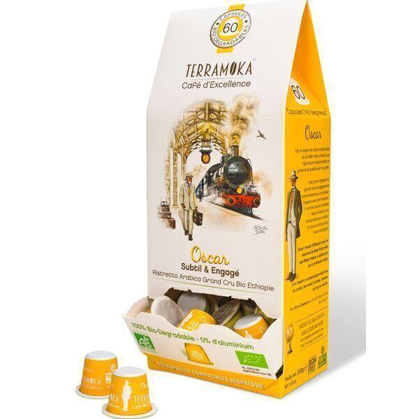 Terramoka - Oscar x60 capsules biodégradables type Nespresso®