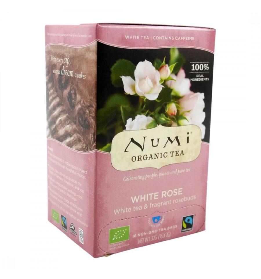 Numi - Thé Blanc à la Rose Bio - 18 sachets - Numi Tea