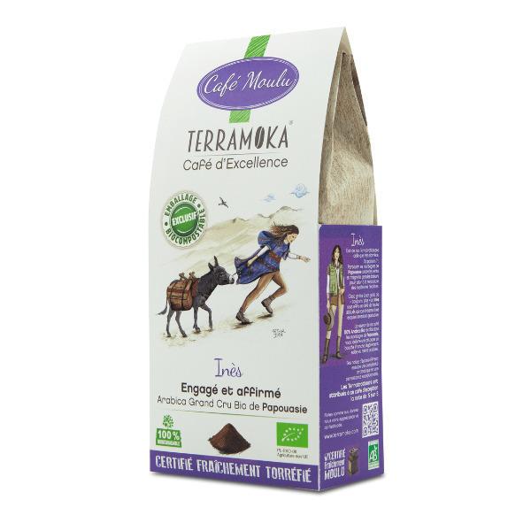 Terramoka - Café Bio Moulu Inès - 100% Arabica de Papouasie