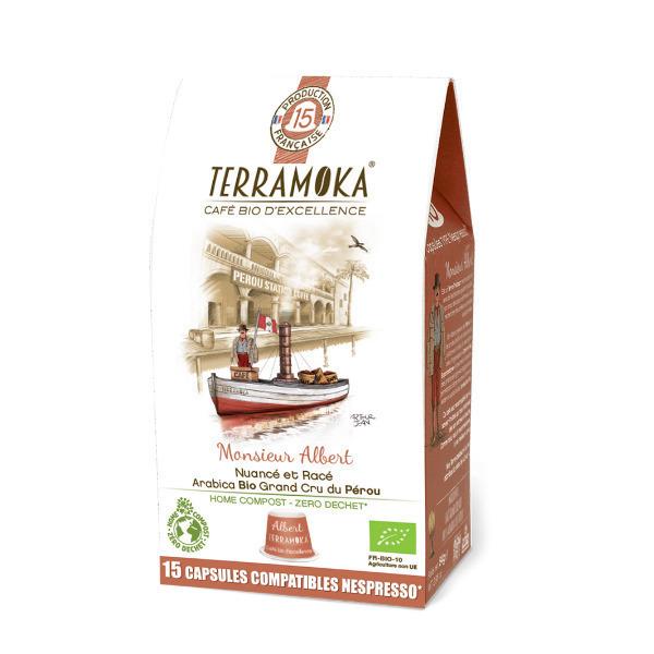 Terramoka - Albert x15 Capsules Biodégradables type Nespresso®