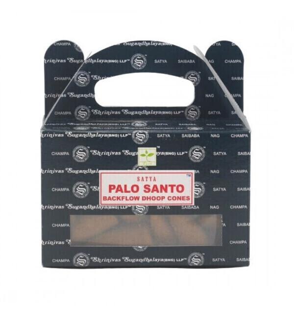 Satya - Boîte de 24 cônes d'encens Backflow Palo Santo - Encens indien n
