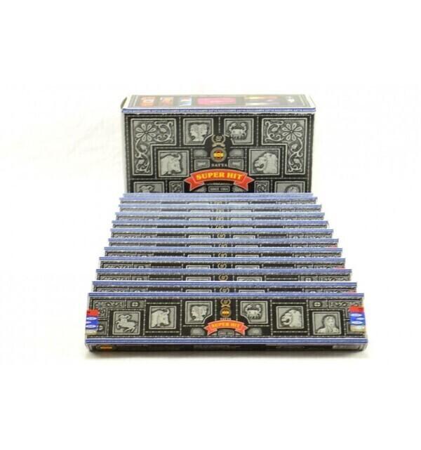 Satya - Encens Super Hit. Pack économique 12x15gr. environ 140 bâtonnets