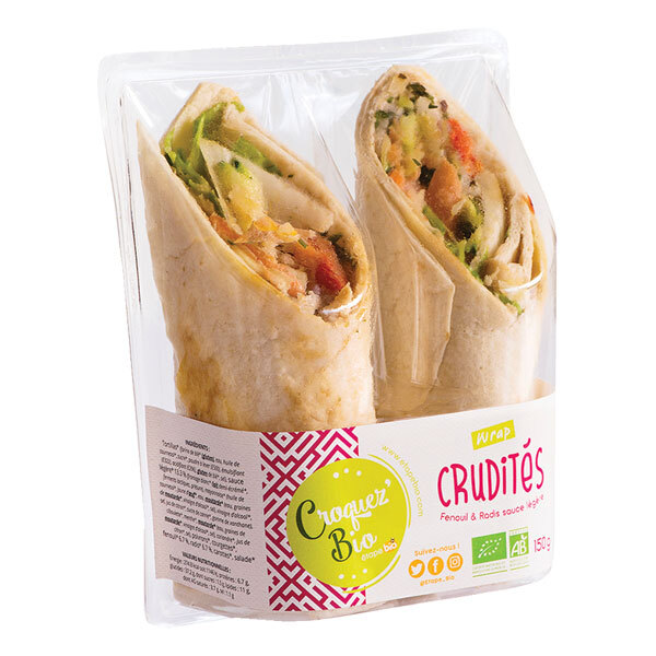 Croquez bio - Wrap crudités 150g