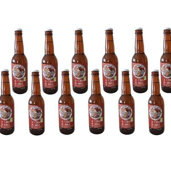 Vinaccus - IPA bio bière blonde le trou du diable - 12 bouteilles de 33cl