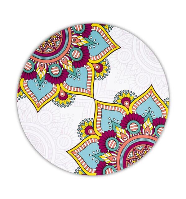 Coco Papaya - Sous-verres ronds motif Mandala turquoise - Lot de 6