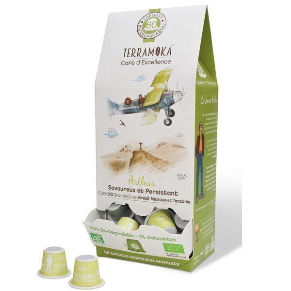 Terramoka - Arthur x60 capsules biodégradables type Nespresso®