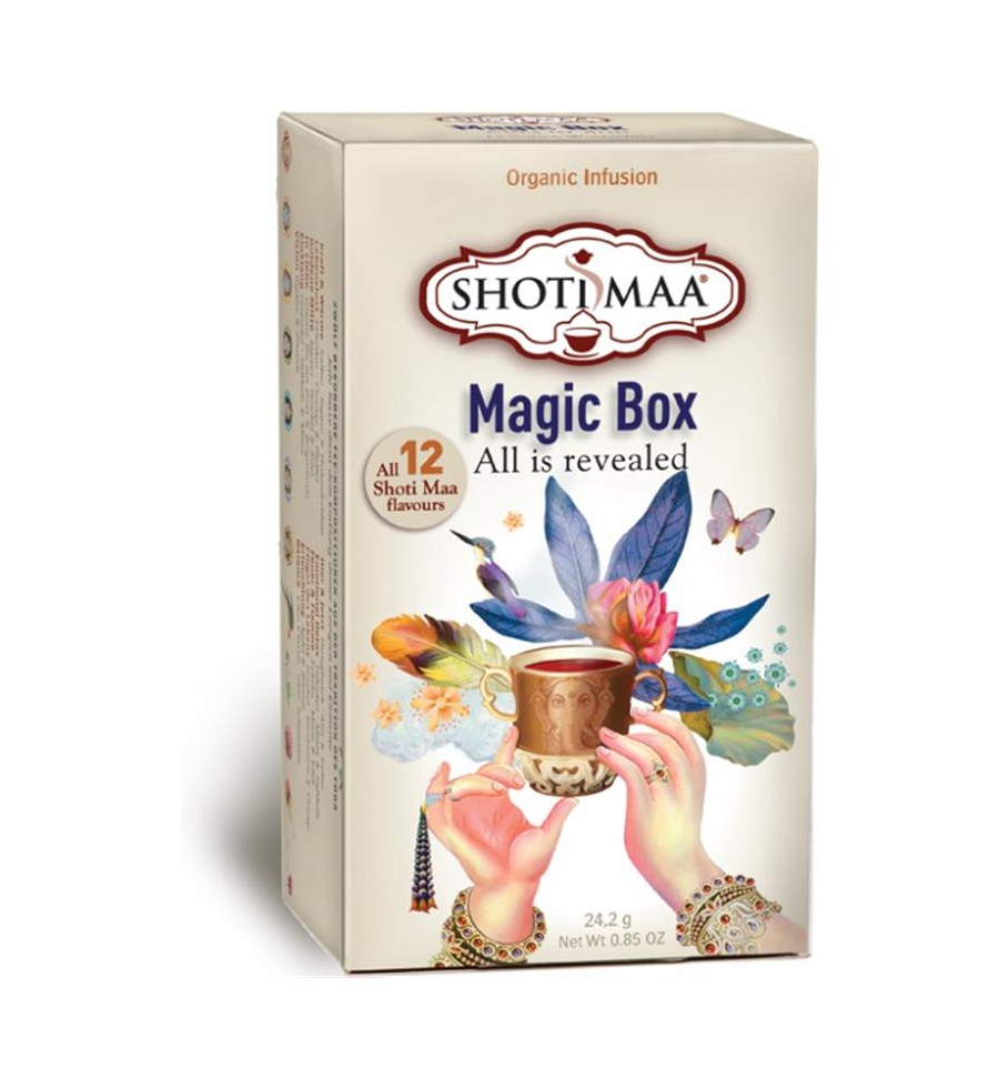 Shoti Maa - Shoti Maa Magic Box. Assortiment 12 thés et infusions bio.