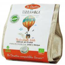 Terramoka - 16 dosettes Senseo® Adèle - Arabica Bio du Brésil et du Mexique