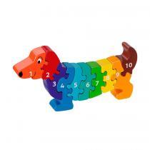 LANKA KADE - Puzzle en bois Chiffres 1-10 Chien