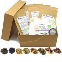 Chabiothé - Coffret dégustation 8 x 50g Assortiment de thés et tisanes BIO
