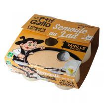 Le P'tit Gallo - Semoule au lait vanille 4x100g