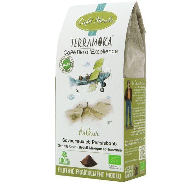 Terramoka - Café Bio moulu Arthur - Arabica et Robusta Bio