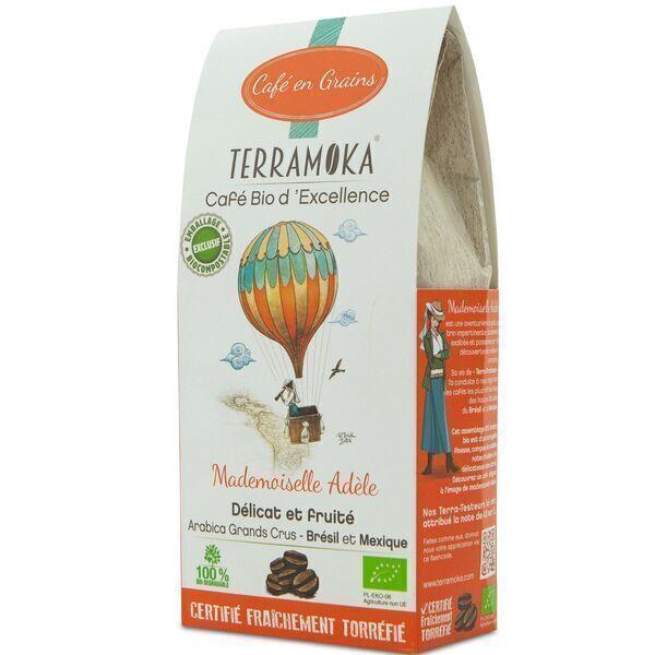 Terramoka - Café bio en grains Adèle - 100% Arabica du Brésil et du Mexique