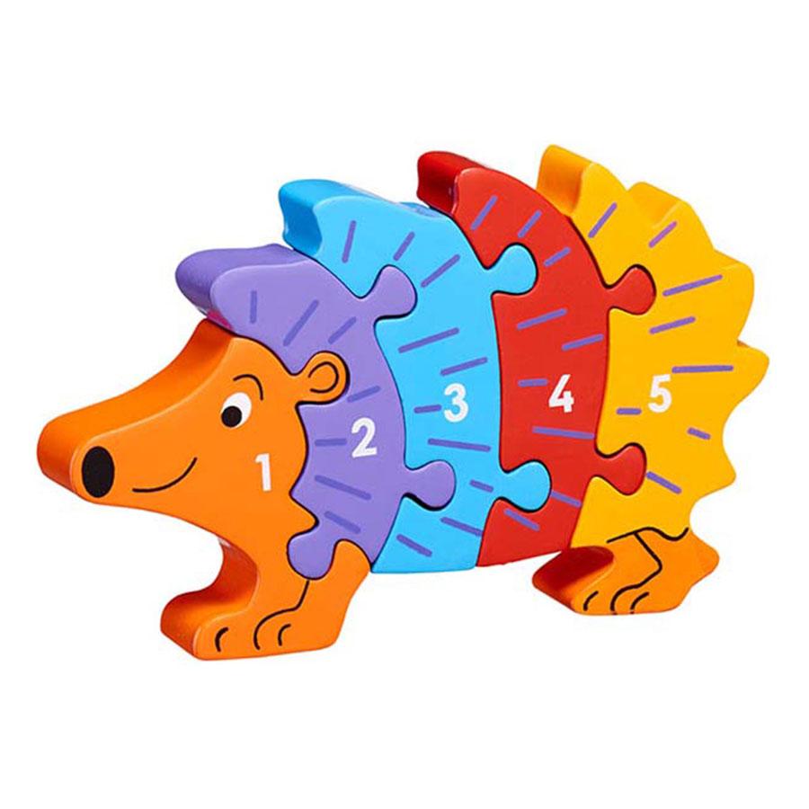 LANKA KADE - Puzzle en bois Chiffres 1-5 Hérisson