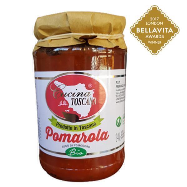 Saveurs de Tosca - Sauce Tomate BIO et végan Pomarola Cucina Toscana - 340 gr 100%