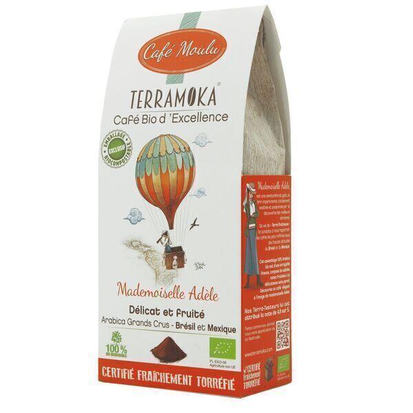 Terramoka - Café Bio moulu Adèle - 100% Arabica du Mexique et du Brésil