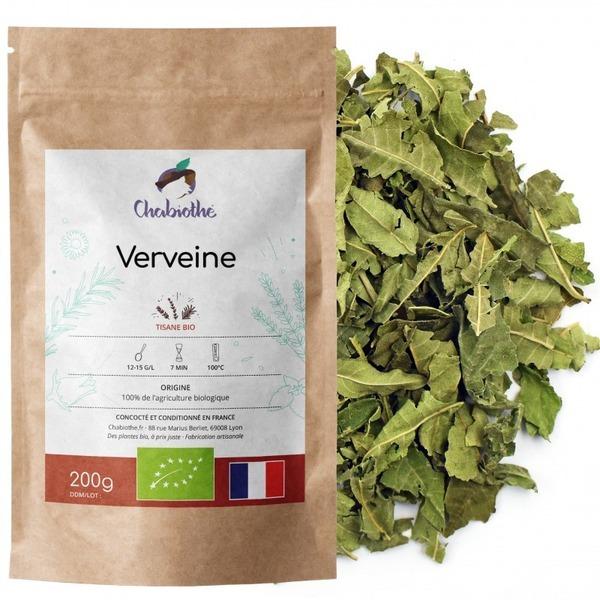 Chabiothé - Verveine Bio - origine France - feuilles coupées 200g