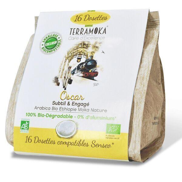 Terramoka - Café Bio x16 dosettes Senseo® Oscar - 100% Arabica d'Ethiopie