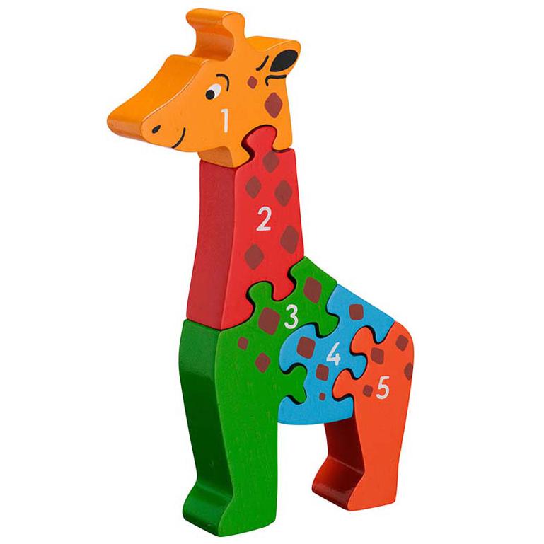 LANKA KADE - Puzzle en bois Chiffres 1-5 Girafe