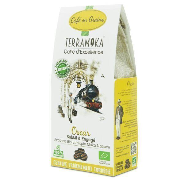 Terramoka - Café Bio en grains Oscar - 100% Arabica d'Ethiopie
