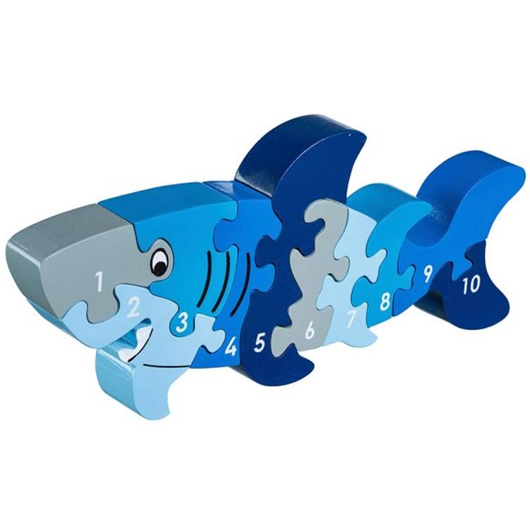 LANKA KADE - Puzzle en bois Chiffres 1-10 Requin