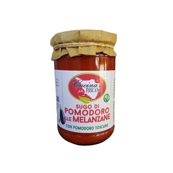Saveurs de Tosca - Sauce Tomate et Aubergine Bio, végan - 300 gr 100% Italien