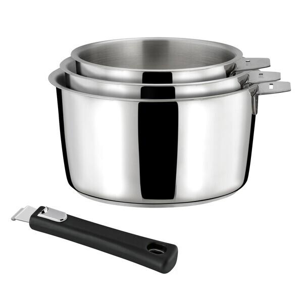 Cuisinox - Malice - Série de 3 casseroles 16/18/20cm