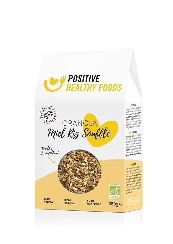 Positive Healthy Foods - Granola Miel Riz Soufflé 350g