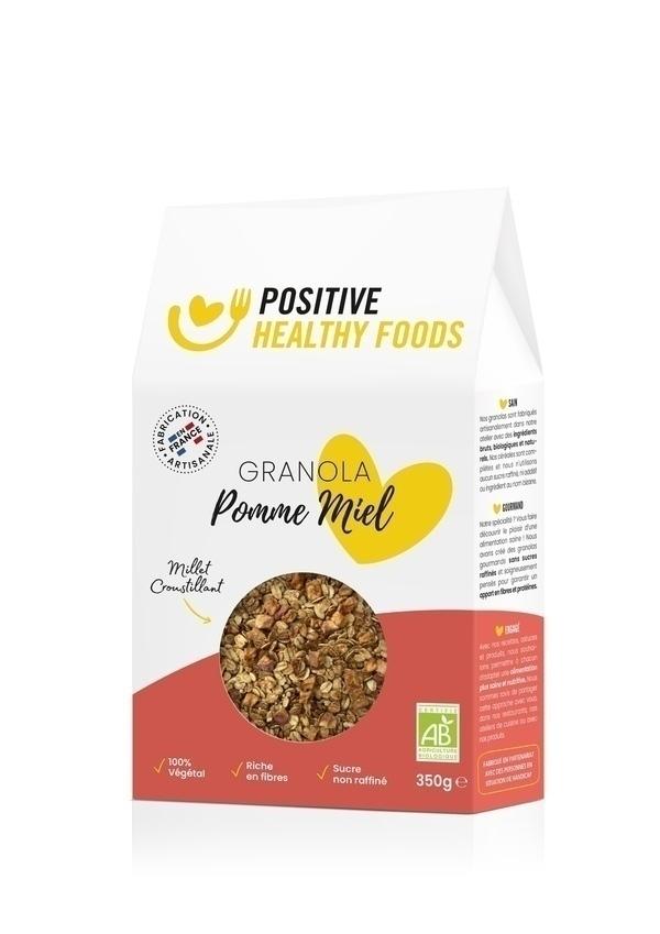 Positive Healthy Foods - Granola Pommes Miel 350g