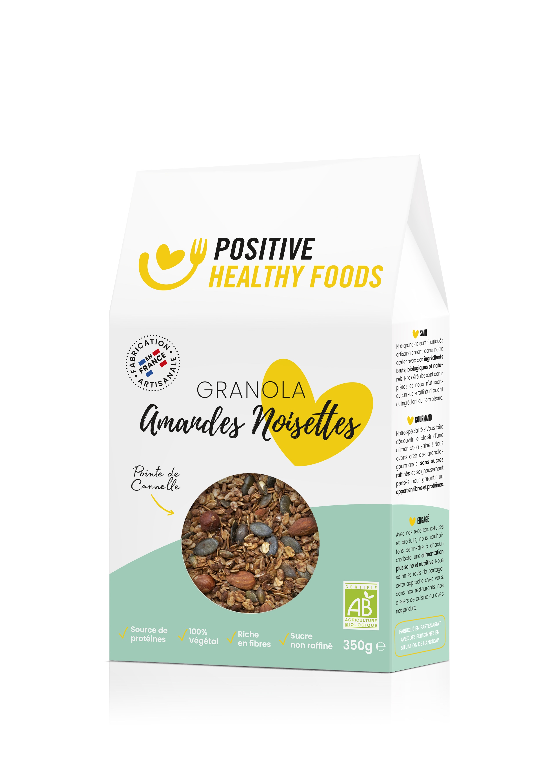 Positive Healthy Foods - Granola Amandes Noisettes 350g