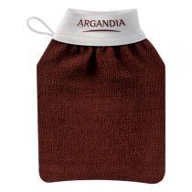 Argandia - Gant de gommage corps marron