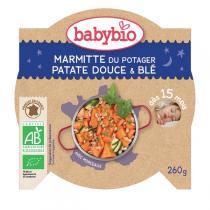 Babybio - Assiette Patates Douces Blé Dès 15 mois 260gr